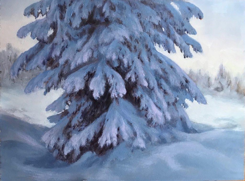 """1804 - 9""""x12"""" - Winter Fronds"""