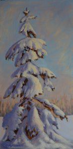 1808 - 16x8 - Happy Tree - Oil