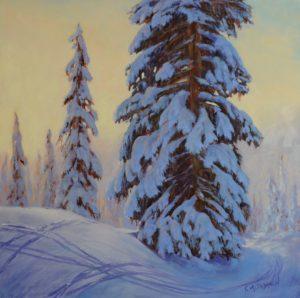 1723 - 16x16 - Winter Playground - Oil